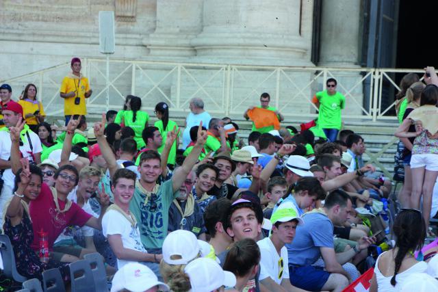 We maken onze aanwezigheid kenbaar in Rome. © Patrick Derde