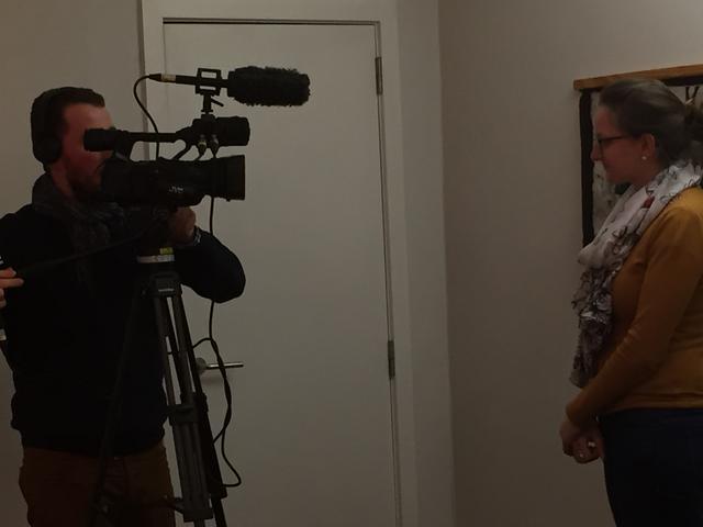 KTOTV in gesprek met Elien op de jongerenavond © Bisdom Gent