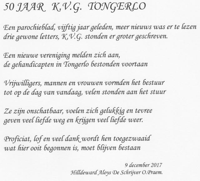 50 jaar KVG Tongerlo © HT