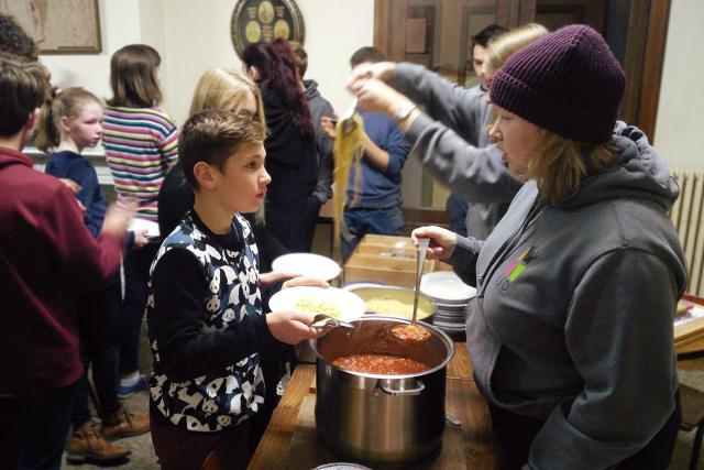 Het was het zeker waard om aan te schuiven voor de spaghetti! © BVR