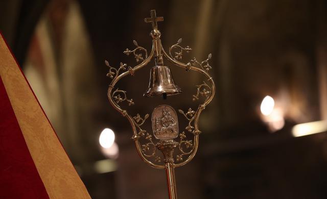 het 'tintinnabulum' in Sint-Hermesbasiliel © Sint-Hermesbasiliek, foto: Fabrice Gevaert