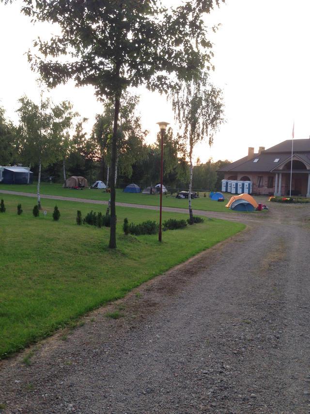 De tenten zijn opgesteld