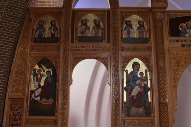 Hte linker gedeelte van de iconostase © JvR