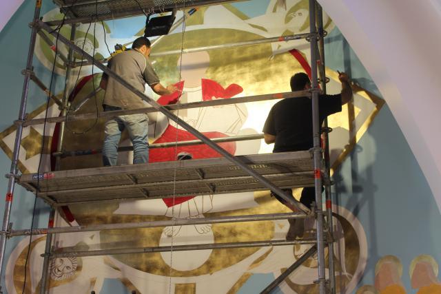 De schilders aan het werk © JvR