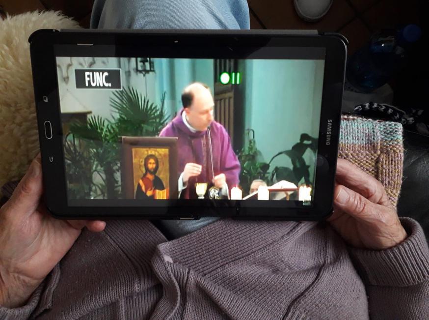 Livestream - de mis van Jette 15.03.2020 © Dirk Vannetelbosch