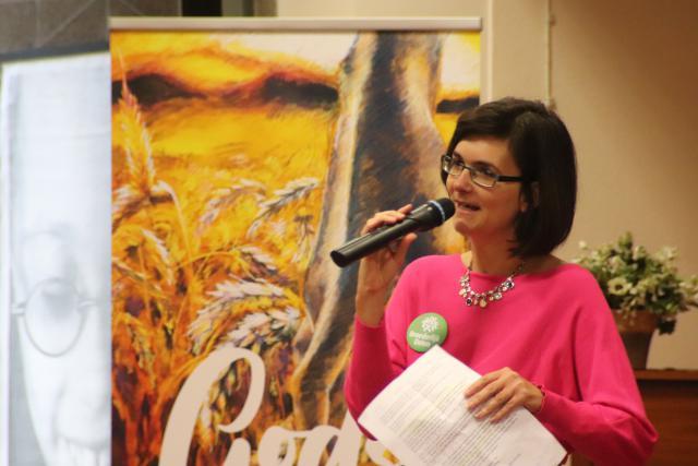 """Myriam Philippens: """"Laten we van JHWH een werkwoord maken!"""" © Jente Vandewijer"""
