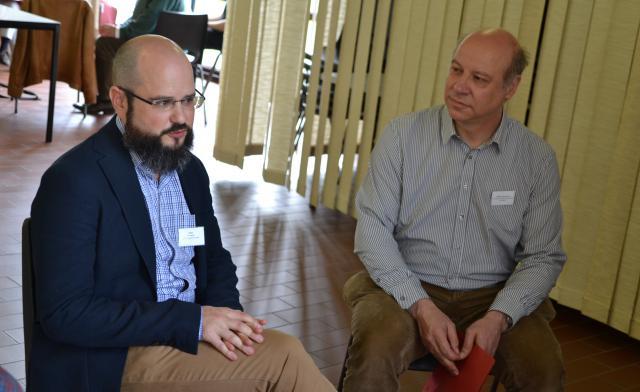 Stijn Demaré (links), stafmedewerker van TAU, op het IPB-Forum van zaterdag 25 mei 2019 © IPB