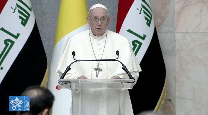Toespraak van paus Franciscus in het presidentieel paleis © CTV/SIR