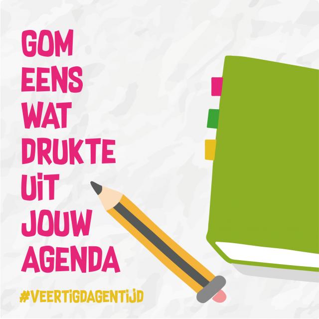 Gom eens wat drukte uit je agenda © Aagje Van Impe