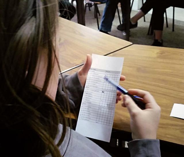 Aantekeningen werden volop op blaadjes papier gekrabbeld in een poging de waarheid te achterhalen. © BVR