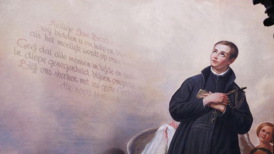 De Heilige Jan Berchmans is de patroonheilige van de studerende jeugd. © Vox Magazine NL