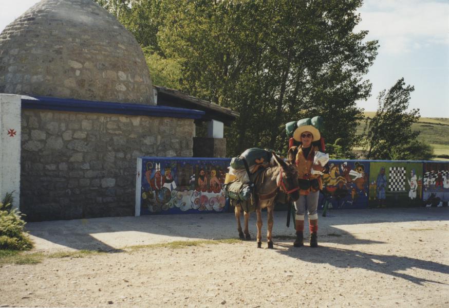 Jenny en haar ezel in het voorjaar van 1998. © Jenny De Jagere