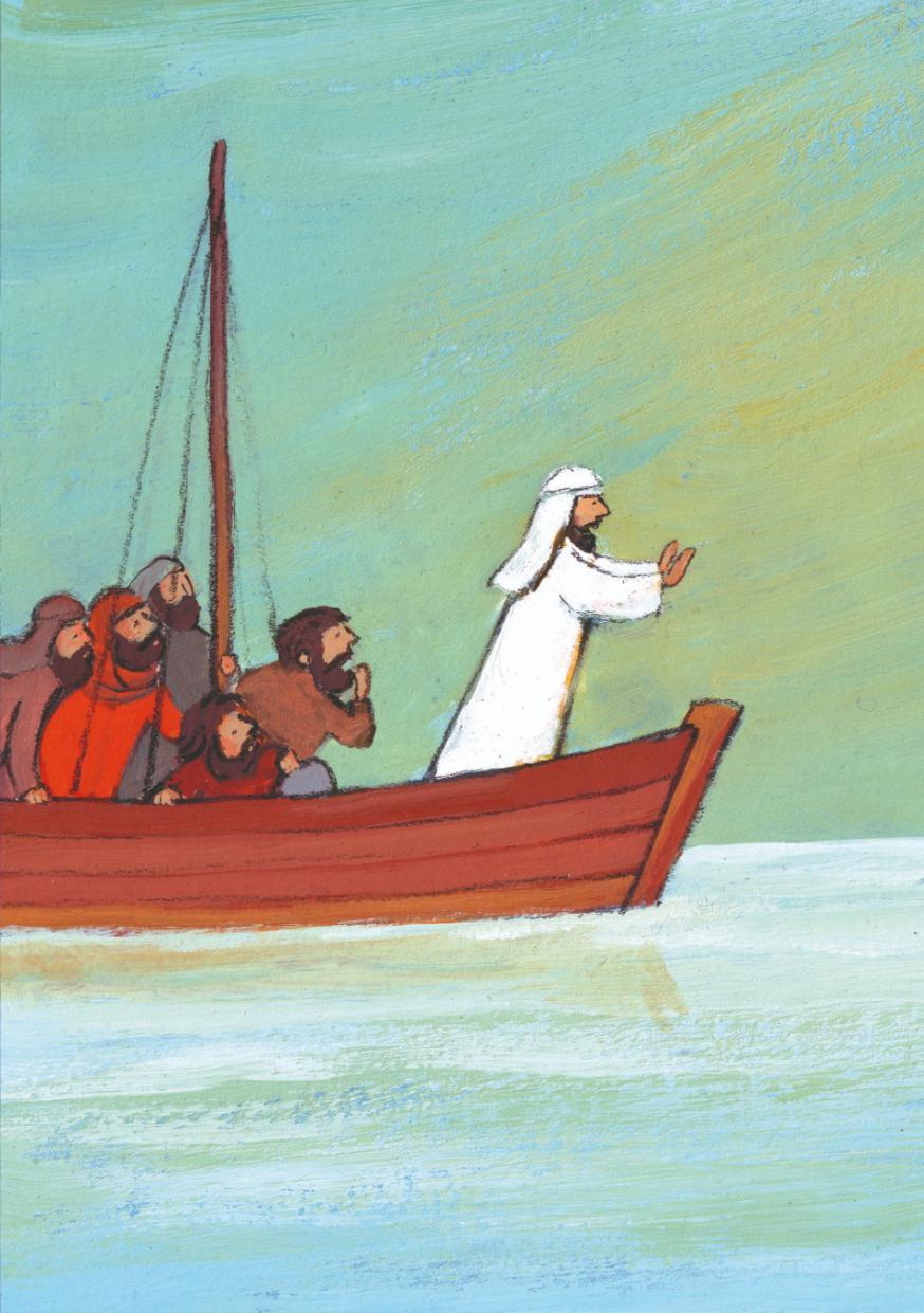 Jezus stilt de storm © Roel Ottow in 'Hosanna'