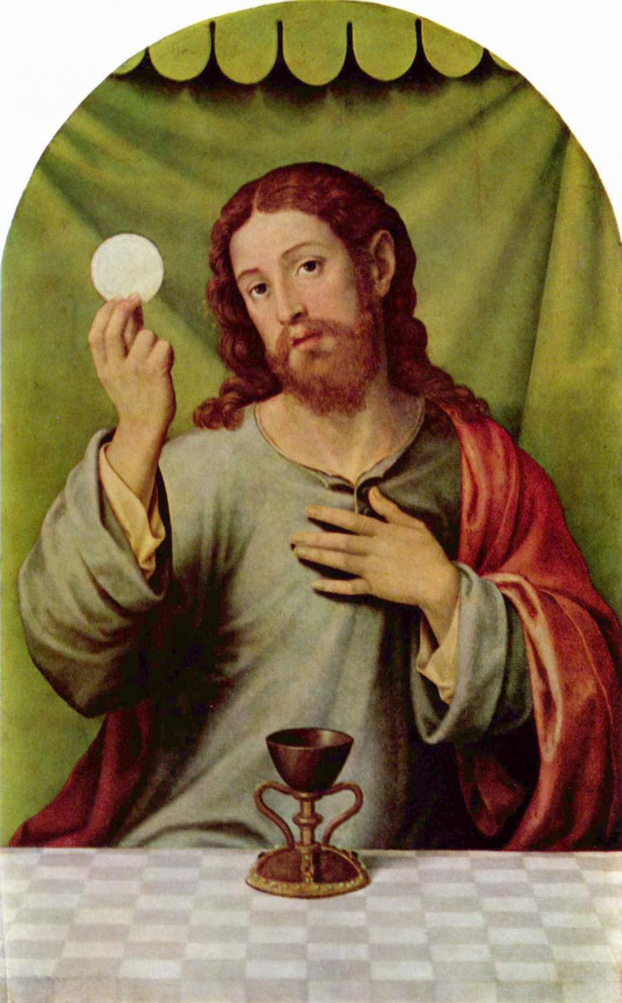 Christus en de Eucharistie (Juan de Juanes, 16de eeuw)