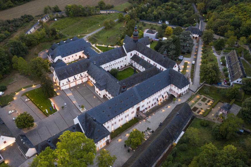 Een luchtbeeld van Kloster Eberbach. © Sven Moschitz / Pressebilder Kloster Eberbach