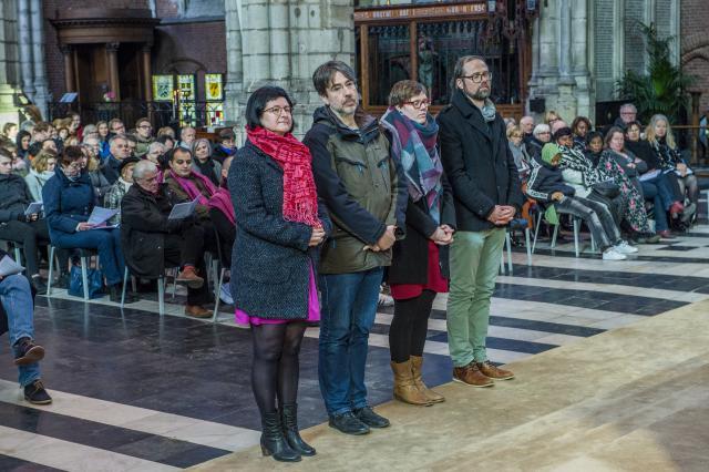 Kandidaat-diakens en hun echtgenotes © Bisdom Gent, foto: Frank Bahnmüller