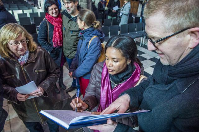 Naamopgave catechumenen 2018 © Bisdom Gent, foto: Frank Bahnmüller