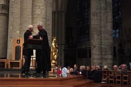 Kardinaal Jozef De Kesel en Steven Fuite, voorzitter van de Verenigde Protestantse Kerk van België © Marian Knetemann