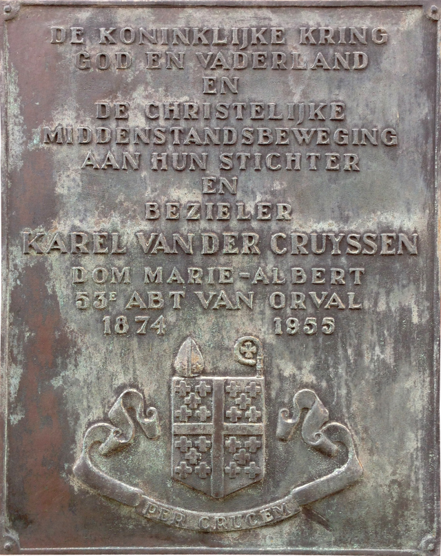 Gedenkplaat Karel van der Cruyssen. © Wikicommons