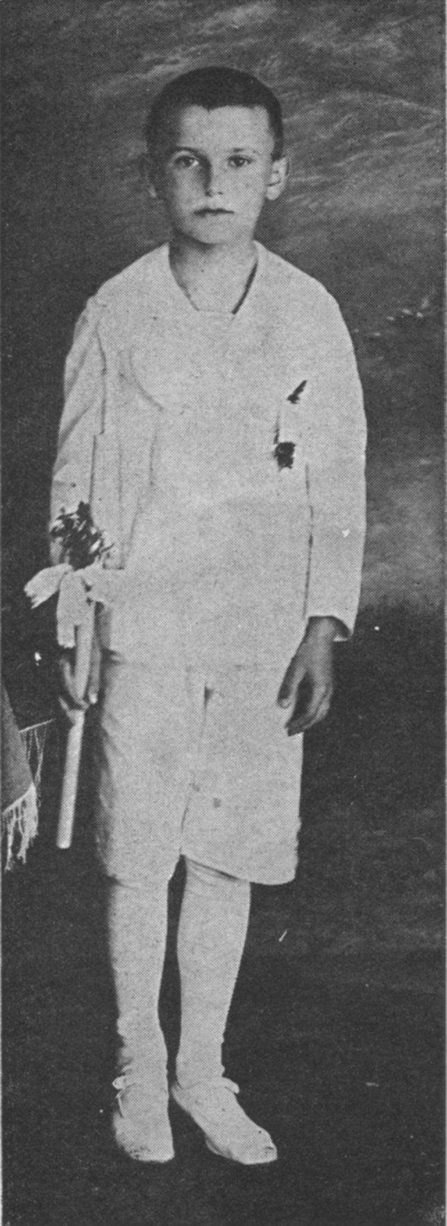 Karol Wojtyla bij zijn eerste communie. © WikiCommons