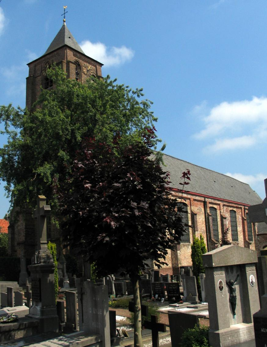 Sint-Laurentiuskerk in Sint-Laureins © Wikipedia