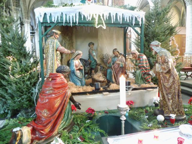 Kerststal in de Sint-Martinuskerk Aalst
