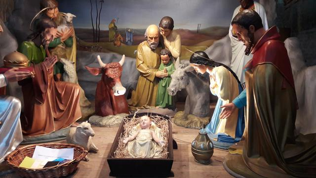 Kerststal kerk Esen