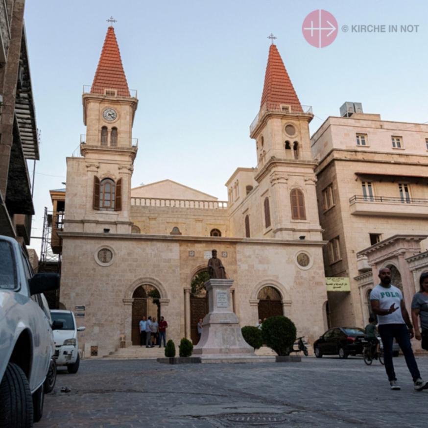 Dankzij hulp van KIN werd de maronitische St. Eliaskathedraal in Aleppo (Syrië) heropend © Kerk in Nood