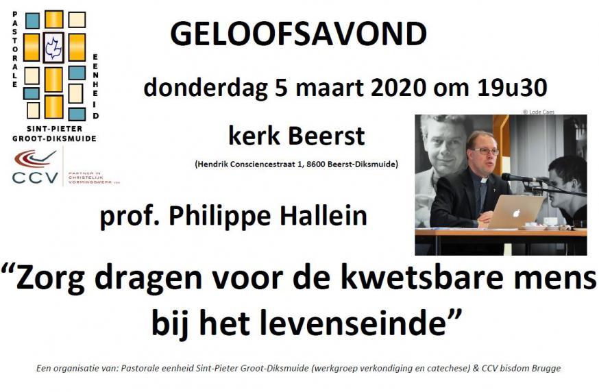 affiche Geloofsavond 5 maart 2020