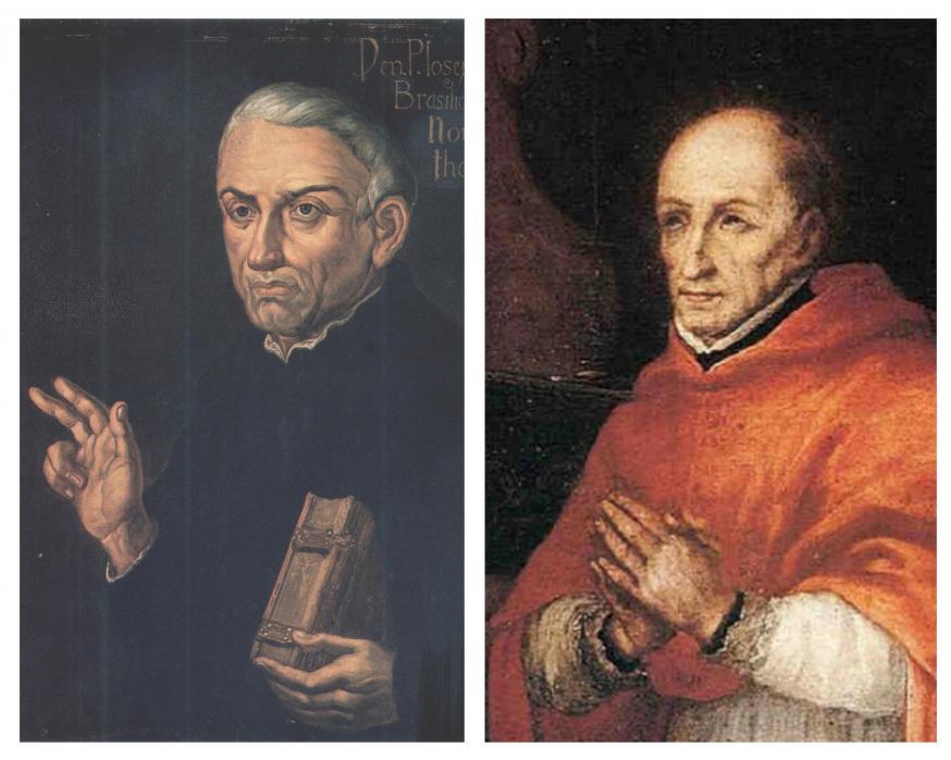 De Heilige Jozef van Anchieta (links) en de Heilige Turibius van Mogrovejo (rechts). © Wikimedia