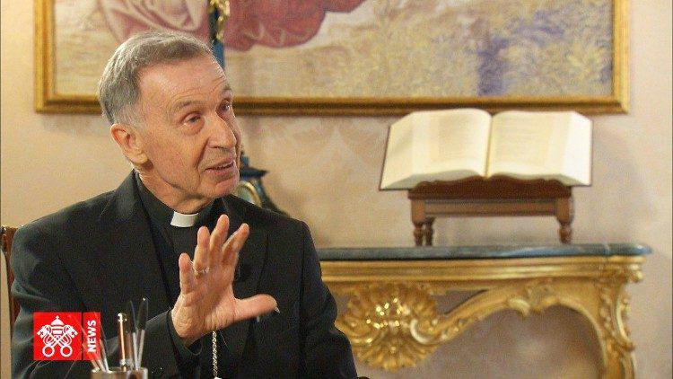 Aartsbisschop Lederia, voorzitter van de theologische commissie © Vatican Media