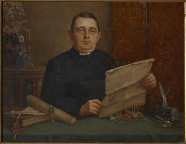 Kanunnik Jozef Laenen, archivaris van het aartsbisdom van 1902 tot 1940 © KIK-IRPA