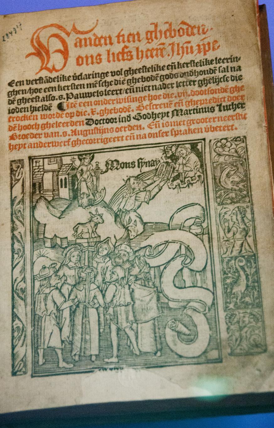 Uniek exemplaar van de oudste Nederlandstalige vertaling van een geschrift van Luther © Philippe Keulemans