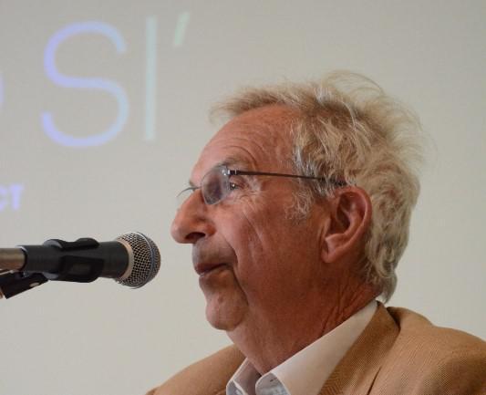 Prof. en ererector Josse Van Steenberge van de Universiteit Antwerpen hield een pleidooi voor gezond werk voor iedereen © Sant'Egidio