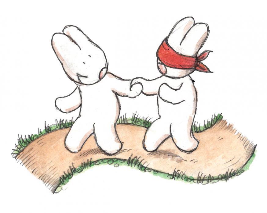 Liefde is: elkaar vertrouwen © IDGP vzw, cartoon getekend door Joris Snaet