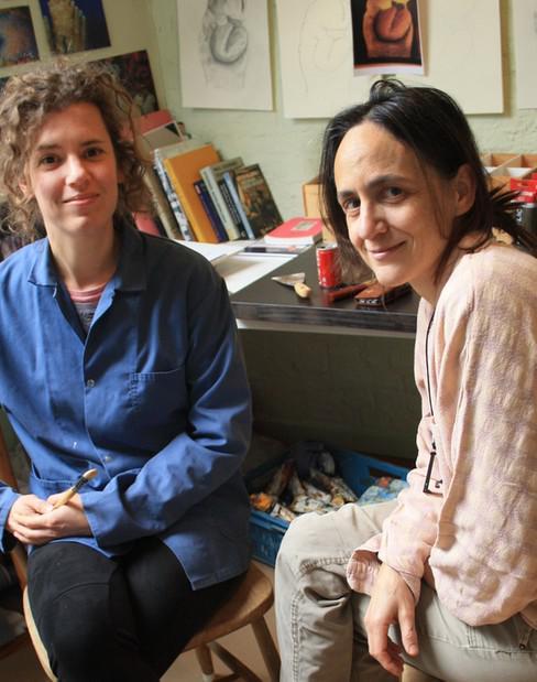 Lies Caeyers (l) en Sophie Kuijken (r) © Kunsterfgoed