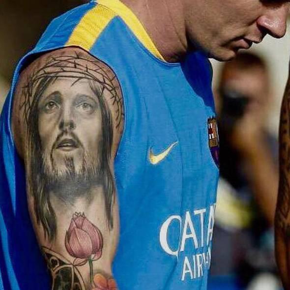 Lionel Messi, een getuigenis in de vorm van een tattoo. © Twitter