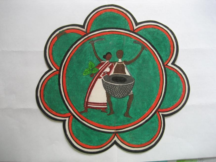 Dit is het logo van Lok Netritwa Nirmaan.