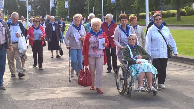 Lourdesbedevaart 2016 georganiseerd door de parochie Ninove