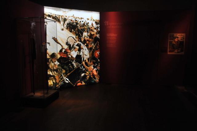 De DDR huldigde de rol van Luther tijdens de boerenopstand, 'de eerste civiele revolutie in Duitsland'.  © Philippe Keulemans/Museum voor kloostercultuur