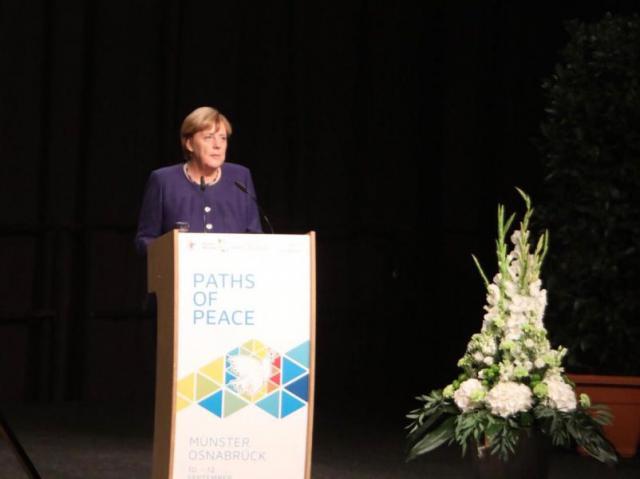 De Duitse bondskanselier Angela Merkel © Sant'Egidio