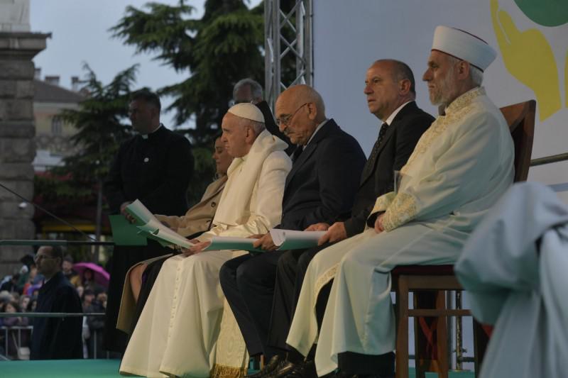 Interreligieuze ontmoeting met de paus in Sofia © Vatican Media