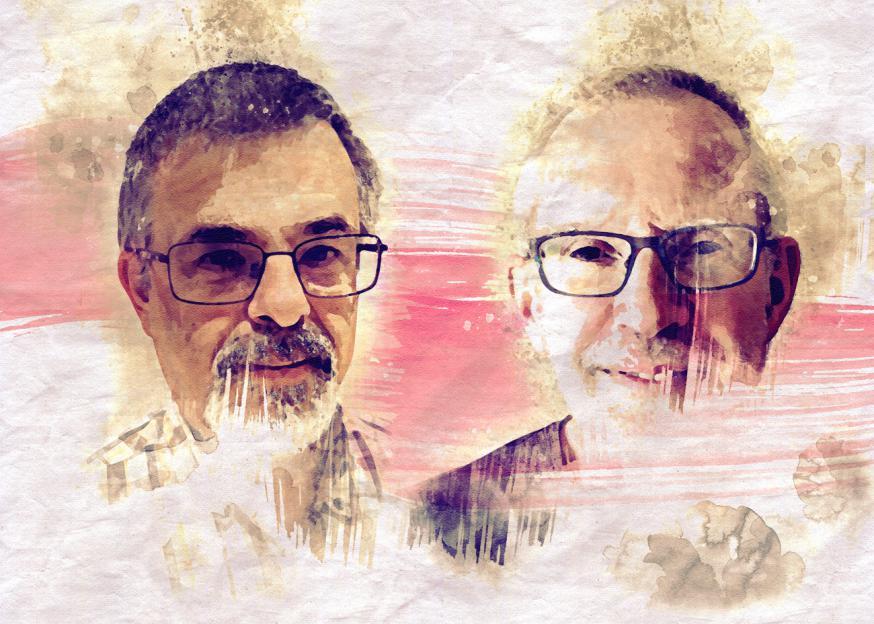 Marc Reuse (links) en Luc Wouters van vzw 't Huiswerk.
