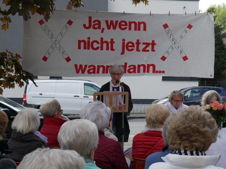 Op tientallen plaatsen in heel Duitsland werd dit weekend actie gevoerd © Maria 2.0