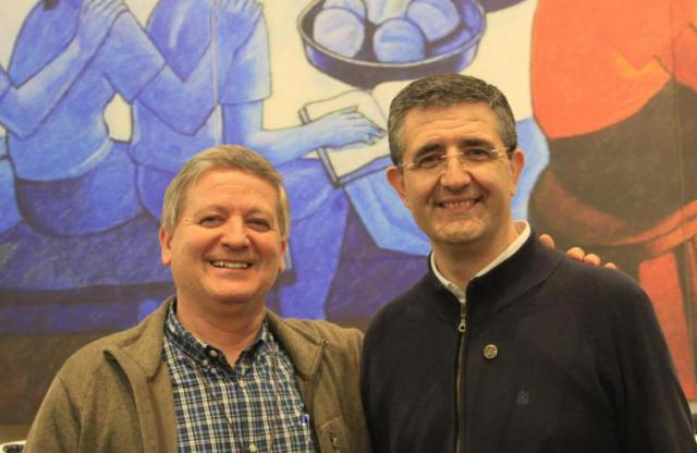 Ernesto Sánchez Barba en Luis Carlos Gutiérrez © Broeders Maristen