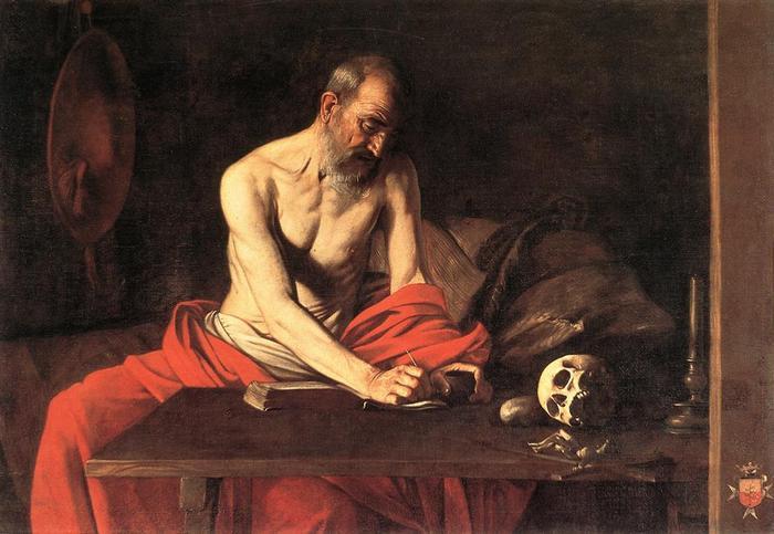 Mediterende Hiëronymus van Caravaggio (1607), La Valletta, St. Johns Museum © RR