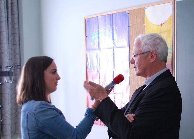 Bisschop Patrick Hoogmartens tijdens een interview © Filip Ceulemans