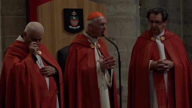 Mgr. Youhanna Petros Mouché, kardinaal Jozef De Kesel en mgr. Herman Cosijns  © Nail Beth-Kinne