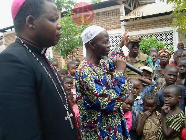 Aartsbisschop Dieudonné Nzapalainga van Bangui en imam Omar Kobine Layama © Kerk in Nood