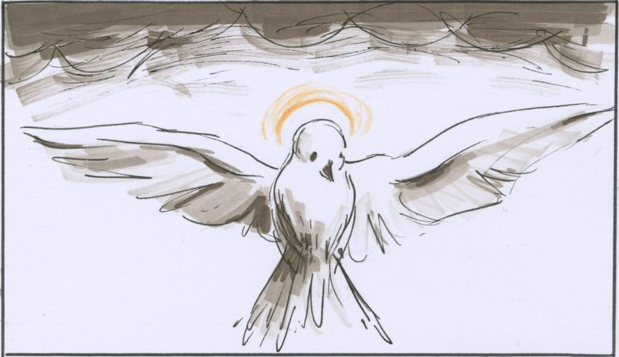 Heilige Geest © Bisdom Gent, tekening: Koen Van Loocke